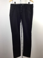 HUDSON Black Skinny Leg Buttoned Trouser Jean Size 28