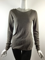 T ALEXANDER WANG Brown Scoop Neck Long Sleeve Sweater Size Medium