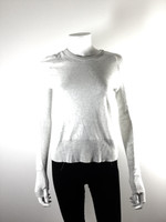 ENZA COSTA Gray Long Sleeve Crew Neck Sweater Size Small