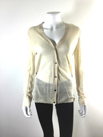BY MALENE BIRGER Ivory Button Front Cardigan Sweater Size M