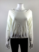 CREA CONCEPT Ivory Woven Back Pullover Sweater Size 38
