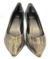 STUART WEITZMAN Brown Snake Print Pointed Toe Pump Heel Size 7.5M