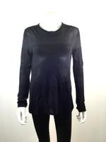 T ALEXANDER WANG Black Tunic Sweater Size Large