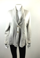 ROSIE NEIRA Ivory Striped Blazer Sweater Jacket Size X Large