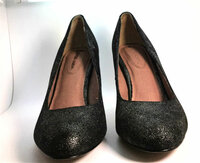 AUTHENTIC CORSO COMO Metallic Leather Pump Heel Size 7.5M