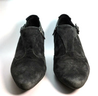 AUTHENTIC AQUATALIA Gray Suede Ankle Bootie Size 8.5