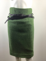 ROBERT RODRIGUEZ Green Wool Straight Knee Length Skirt Size 2
