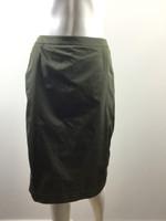 LIDA BADAY NWT Green Straight Knee Length Skirt Size 8 $595