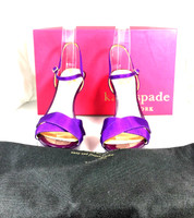 AUTHENTIC KATE SPADE African Violet Robin Satin Pump Heel Size 7