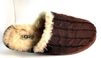 UGG AUSTRALIA SLIPPERS Brown Cabled Slippers Size 7