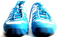 NIKE Blue White Fit Frame Lunarlon Lace Up Running Shoes Size 7