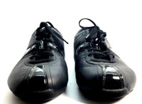 PUMA Black Leather Lace Up Tennis Shoe Sneaker Size 7
