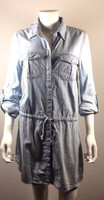 SANCTUARY Denim Long Sleeve Shirt Dress Size Small