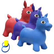 Bintiva Children's Horse Hopper with Free Foot Pump