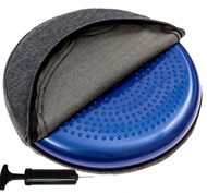 Covered balance disc with washable overlay - Dark Gray