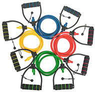 Professional Grade, Individual Resistance Bands, Adjustable, Extra Long Length, with Premium Comfort D Handles