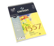 Canson 1557 Spiral Pads - Drawing (Extra White)