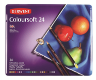 Derwent Coloursoft Pencil Set - Tin of 24
