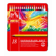 CARAN d'ACHE SUPRACOLOR® Soft Aquarelle Set - Tin of 18