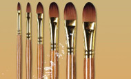 Pro Arte Series 009 Prolene Plus Filbert brushes