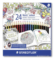 Staedtler 24 Noris Colour Hexagonal Coloured Pencils - Johanna Basford Edition