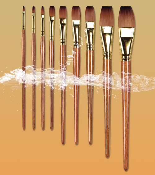 Pro Arte Artists Value Panache Flat Brushes