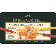 Faber Castell Polychromos Pencils Tin of 12