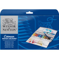COTMAN WATER COLOURS PAINTING PLUS  12 TUBE SET