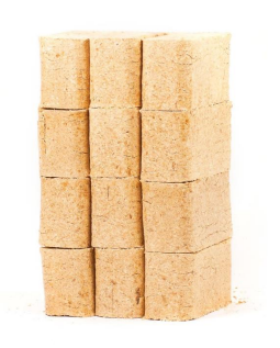 Larch Briquettes 10kg from reservoir logs