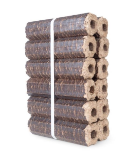 Pinikey briquettes from reservoir logs