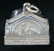 "Sterling silver image of our beloved Arch.  Measures 5/8 "" x 5/8"".  Feels like having a little bit of ""home"" with you!"