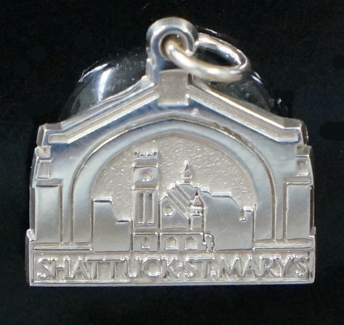 """Sterling silver image of our beloved Arch.  Measures 5/8 """" x 5/8"""".  Feels like having a little bit of """"home"""" with you!"""