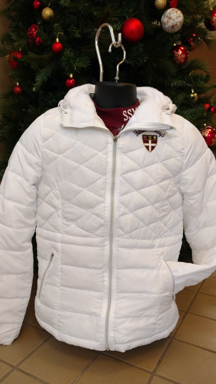"Top quality 100% polyester Colosseum women's ""As You Wish"" Style full zip up, long sleeve, hooded Puffer Jacket with front zip pockets. Fur lined hood, embroidered Shield logo on left chest.  Ladies sizes only."