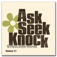 Ask Seek Knock - Cards