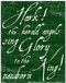 Pine Antiqued Calligraphy