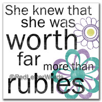 She Knew. . . Rubies, White - Cards
