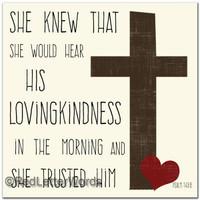 Psalm 143:8 - 5x5 Cafe Mount