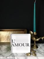 L'Amour - 6x6 Acrylic Block