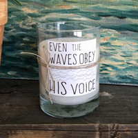 Matthew 8:27 Waves - Candle