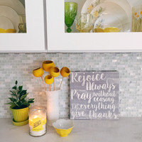 1 Thessalonians - 12x12 Cafe Mount in Gray