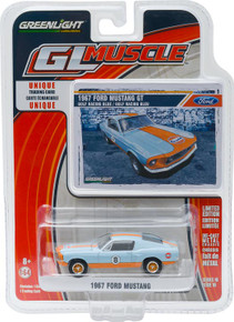1:64 GL Muscle Series 16 - 1967 Custom Gulf Oil Ford Mustang