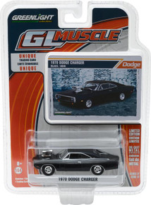 1:64 1970 Dodge Charger with Blower Engine - Black