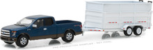 1:64 Hitch & Tow Series 12 - 2016 Ford F-150 and Double-Axle Dump Trailer