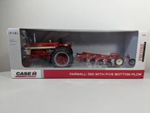 1:16 Farmall 560 Diesel Tractor with 5 Bottom Plow, Prestige Edition