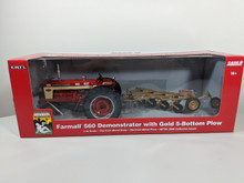 1:16 Farmall 560 Demonstrator Tractor with Gold 5 Bottom Plow, Museum Edition