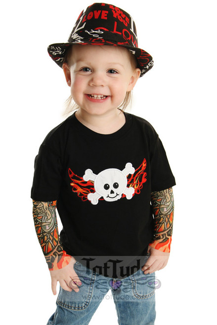 Skull and crossbones with wings embroidery design