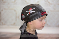 Pirate Personalized Faux Leather Do Rag