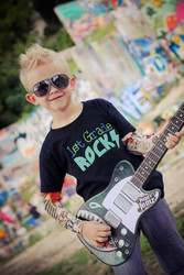 1st Grade Rocks Boys Tattoo Sleeve Shirt
