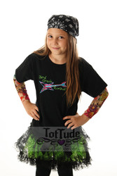 3rd Grade Rocks Girls Tattoo Sleeve T Shirt