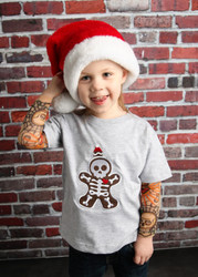 Gingerbread Skeleton Tattoo Sleeve Shirt for Christmas